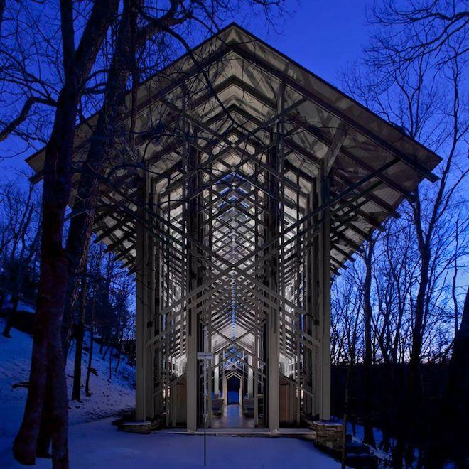Houses of the Holy : Feast Your Eyes on 8 Glorious New Shots of Thorncrown Chapel