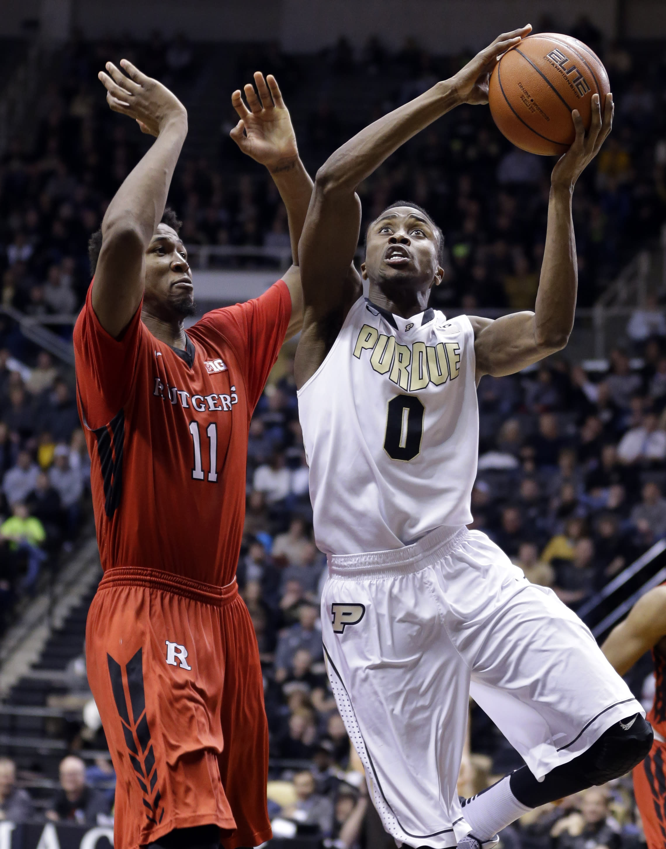 Smotherman's career night lifts Purdue over Rutgers 92-85