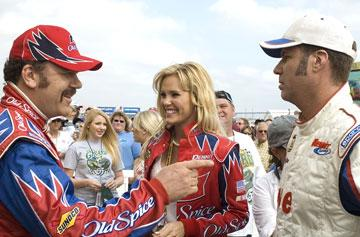 John C. Reilly , Leslie Bibb and Will Ferrell in Columbia Pictures' Talladega Nights: The Ballad of Ricky Bobby