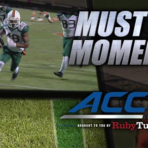 Miami Punt Block Turns Into TD | ACC Must See Moment