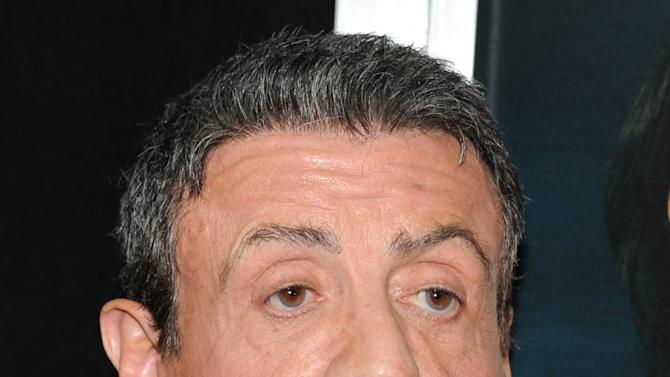 """Actor Sylvester Stallone attends the """"Bullet To The Head"""" premiere at AMC Lincoln Square on Tuesday, Jan. 29, 2013 in New York. (Photo by Evan Agostini/Invision/AP)"""