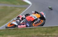 Spain's Honda rider Dani Pedrosa wins the Czech MotoGP in Brno, beating world championship leader Jorge Lorenzo in a nerve-wracking final lap
