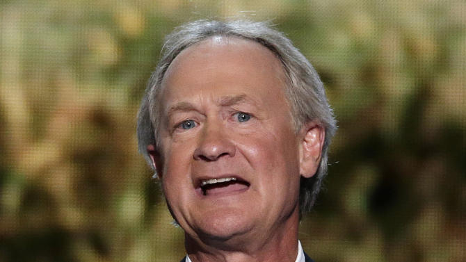 FILE - In this Sept. 4, 2012 file photo, Rhode Island Gov. Lincoln Chafee addresses the Democratic National Convention in Charlotte, N.C. Chafee, an independent, is joining the Democratic Party ahead of his bid for a second term, two Democratic officials said Thursday, May 29, 2013. He served in the U.S. Senate as a Republican but left the GOP in 2007. (AP Photo/J. Scott Applewhite, File)