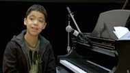 Pianist Ethan Bortnick, 12, played in Calgary for his first time Tuesday night.