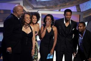 Cast of The Fresh Prince of Bel-Air reunite at the 2005 BET Awards in Hollywood.