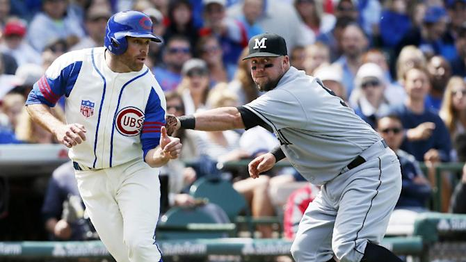 Marlins beat Cubs after losing Alvarez to injury