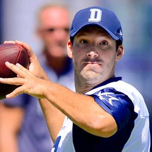 Dallas Cowboys quarterback Tony Romo live from the podium