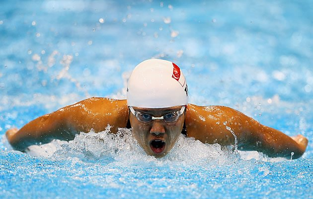 Tao Li fails to make the top 8 in the 100m butterfly after finishing 10th out of 16 semi-finalists (Getty)