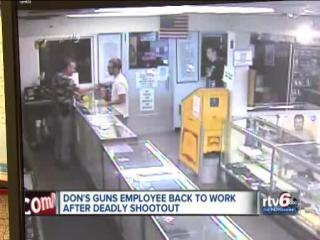 Don's Guns employee injured in shooting returns to work