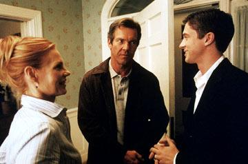 Marg Helgenberger , Dennis Quaid and Topher Grace in Universal Pictures' In Good Company