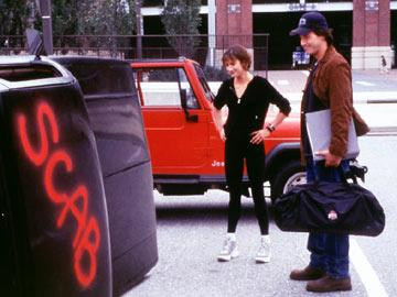 Brooke Langton and Keanu Reeves in Warner Brothers' The Replacements