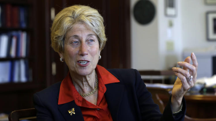 In this Friday, May 17, 2013, photo, U.S. District Court Judge Shira Scheindlin is interviewed in her federal court chambers, in New York. Scheindlin is the federal judge presiding over civil rights challenges to the stop-and-frisk practices of the New York Police Department. (AP Photo/Richard Drew)