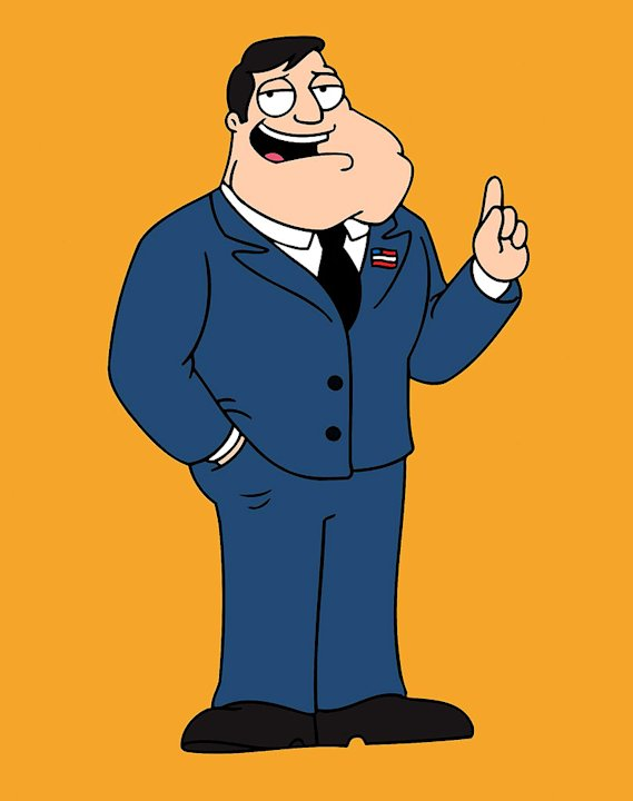 Stan Smith (voiced by Seth MacFarlane) stars in American Dad on FOX. 
