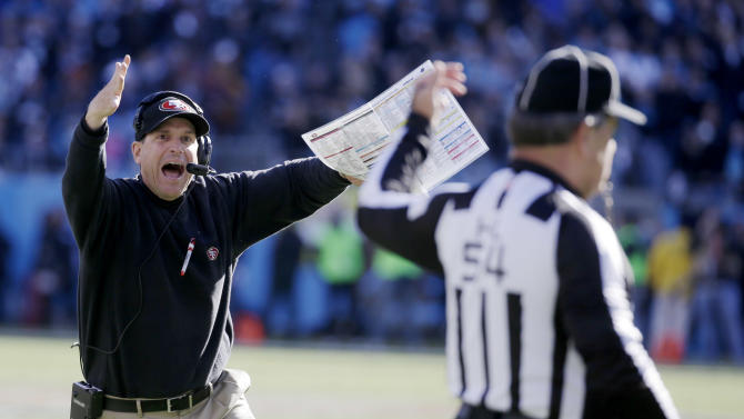 Harbaugh leads 49ers back to NFC championship