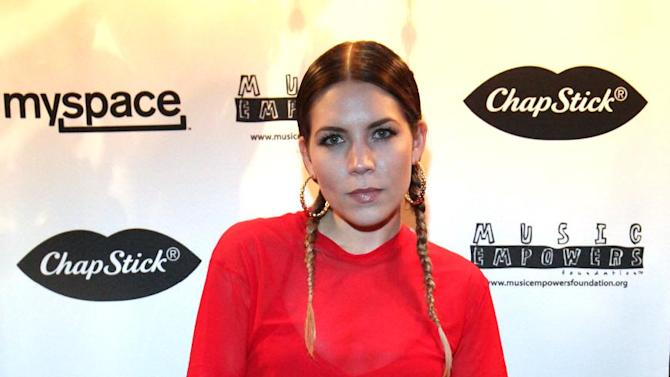 IMAGE DISTRIBUTED FOR CHAPSTICK - Singer and songwriter Skylar Grey appears at the Myspace Live concert presented by ChapStick Sessions, Monday, Feb. 11, 2013, in Los Angeles, Calif. Grey opened the ChapStick-sponsored show, which promoted emerging musical talent.  The concert was streamed lived with views benefiting the Music Empowers Foundation, which provides tomorrow's talents the opportunity to learn, play, create and perform music. (Photo by Rene Macura/Invision for ChapStick/AP Images)