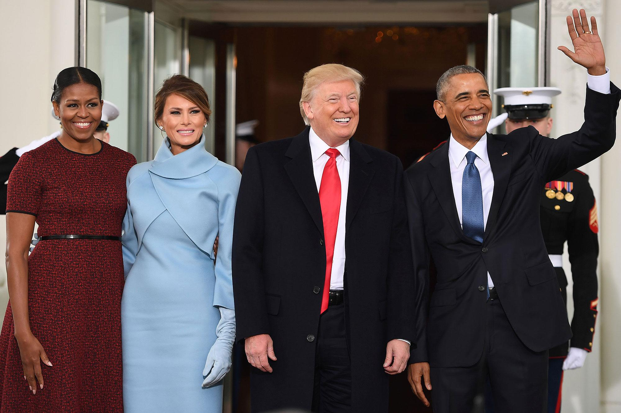 The Obamas Welcome Donald and Melania Trump to the White House Just Before Inauguration
