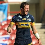 Zak Hardaker's brace helped take Leeds into the Challenge Cup final