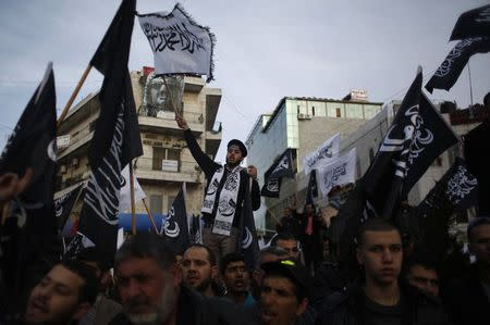 Thousands of Palestinians protest Charlie Hebdo Mohammad cartoon