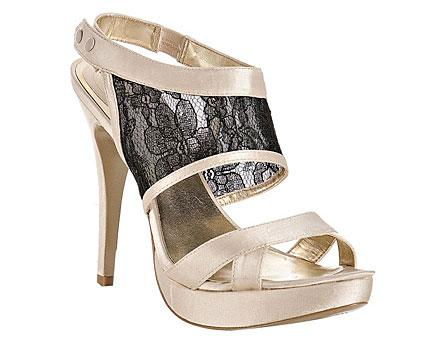 Satin and Lace Detail Sandals