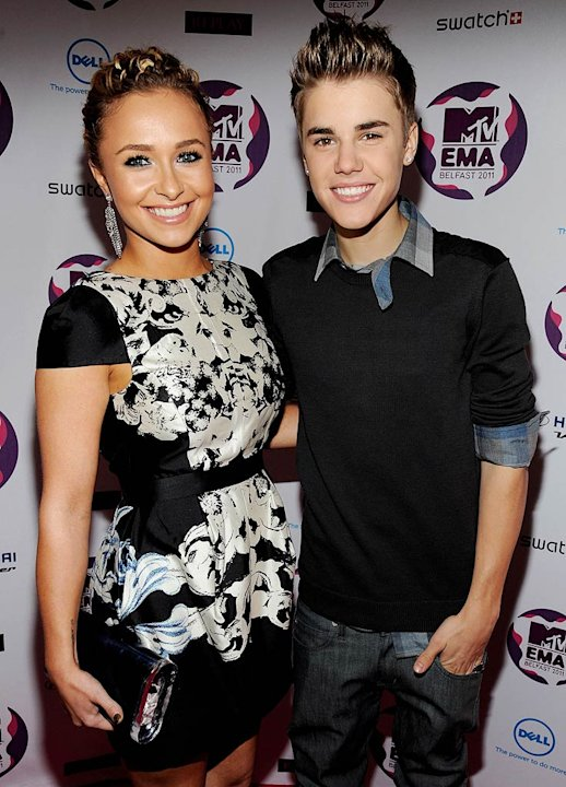 Panettiere Bieber MTV European Music Awards
