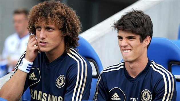 David Luiz, left, and Oscar, right, could return against Steaua Bucharest