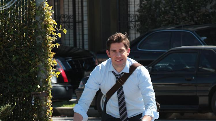"This undated publicity photo released by NBC shows John Krasinski as Jim Halpert in the ""Finale"" episode for ""The Office,"" Season 9, on NBC. (AP Photo/NBC, Chris Haston)"
