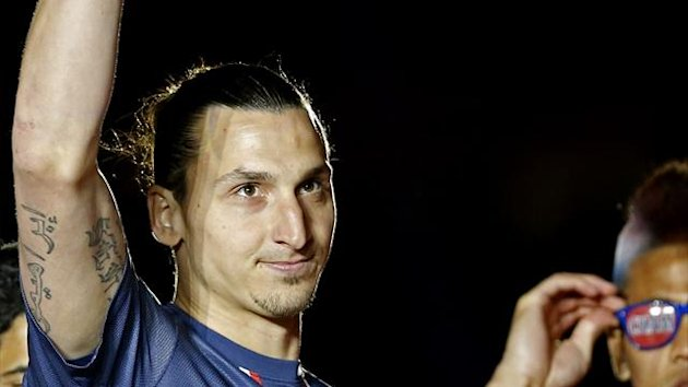 Zlatan Ibrahimovic was named Ligue 1's  player of the season on Sunday (Reuters)