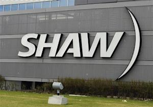 The Shaw Communications sign is seen on their office building in Calgary, Alberta