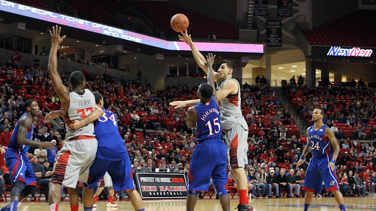 NCAA Basketballl: Kansas at Texas Tech