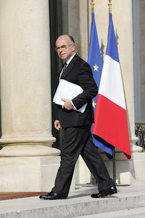 French Interior Minister Bernard Cazeneuve arrives …