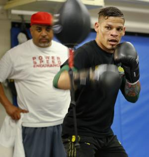 First openly gay boxer fights for world title