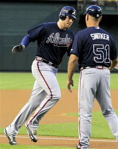 Freeman homers twice, Braves beat D-Backs 10-2
