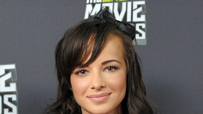 "Ashley Rickards, from the cast of ""Awkward.,"" participates in an interview during the MTV Movie Awards Press Day at Sony Studios on Thursday, April 11, 2013, in Culver City, Calif. (Photo by John Shearer/Invision for MTV Networks/AP Images)"
