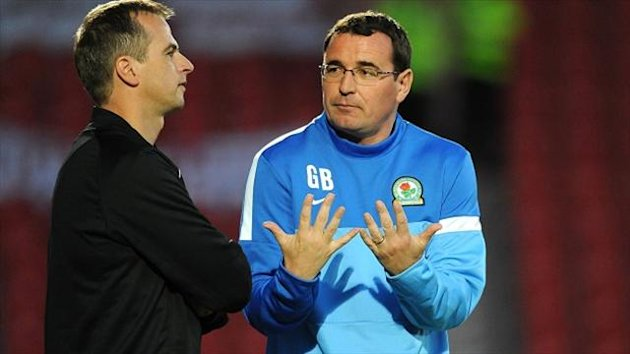 Gary Bowyer, right, was unhappy with Theo Robinson's opening goal