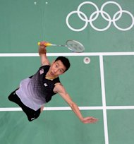 Malaysia's Lee Chong Wei during his men's semi-ffinal singles match against China's Chen Long at the London Olympics on August 3. Lee was number one for 199 consecutive weeks, until injury forced him to take two months off in May