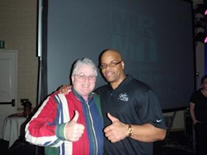 The Easiest Sale I Ever Made – This picture of John Aberle and Stephen Pierce at MRMI Seminar, March 19, 2010, in Garden Grove, CA shows two people in agreement like the prospect and sales person working together to solve prospect's wants and needs