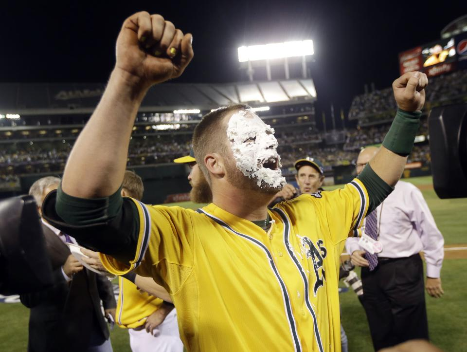A's rookie Vogt delivers game-winning playoff hit
