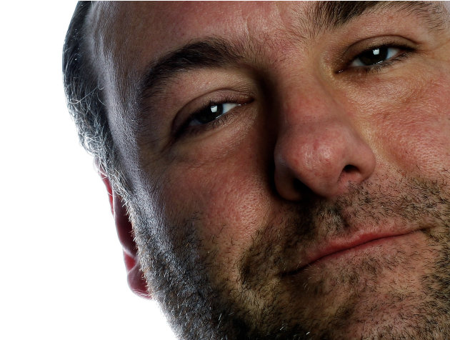 "FILE - In this Nov. 8, 2007 file photo, actor James Gandolfini poses during a photo shoot in New York. Gandolfini, whose portrayal of a brutal, emotionally delicate mob boss in HBO's ""The Sopranos"" he"