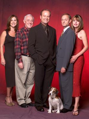 "Peri Gilpin, John Mahoney, Kelsey Grammer, David Hyde Pierce and Jane Leeves NBC's ""Frasier"" Frasier"