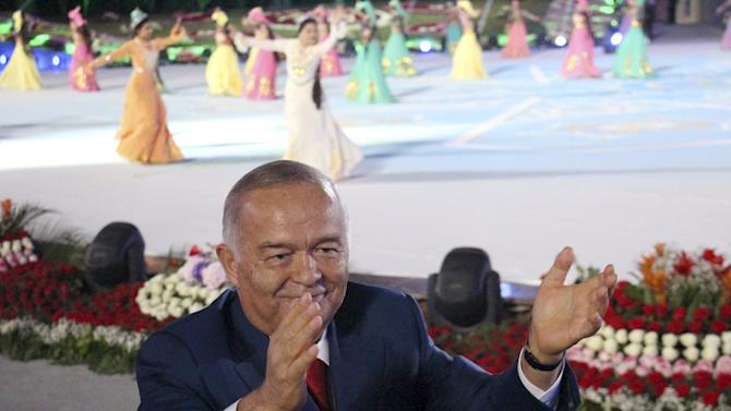 Uzbekistan's President Karimov takes part in the Independence Day celebrations in Tashkent