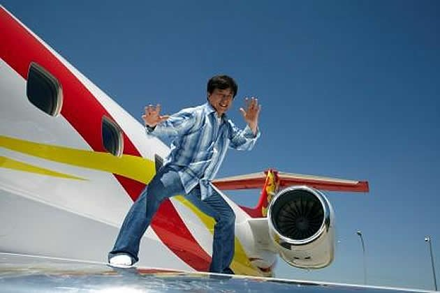 Jackie Chan's private jet debuts at the Singapore Airshow
