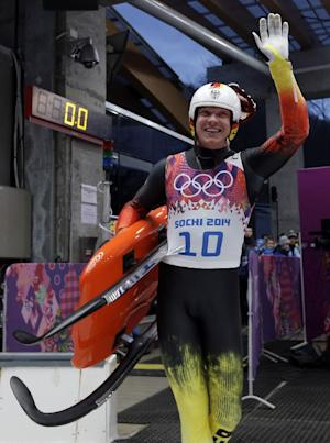Germany's Loch wins 2nd gold in Olympic luge