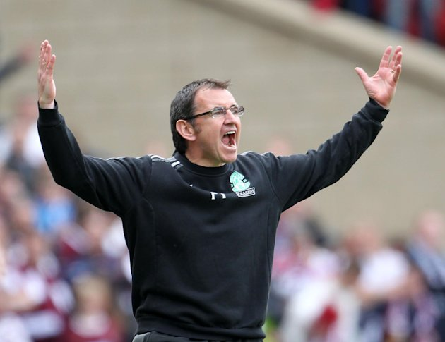 Hibernian manager Pat Fenlon was pleased with his side's display against rivals Hearts