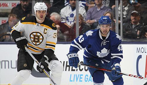 Boston Bruins vs. Toronto Maple Leafs: Zdeno Chara and Nazem Kadri