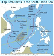 Graphic on disputed boundaries in the South China Sea