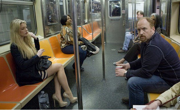 "Ashley Beach and Louis C. K. in ""Louie."""