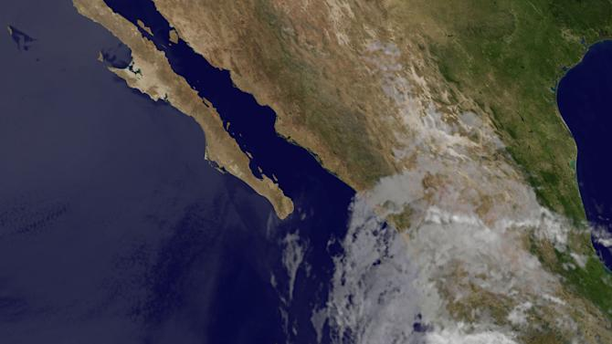 This image provided by NASA taken at 1:15 a.m. EDT Friday May 25, 2012 shows Hurricane Bud. The U.S. National Hurricane Center says Hurricane Bud has strengthened off the southwestern coast of Mexico. The Miami-based agency said early Friday the storm was packing sustained winds of 115 mph making it a Category 3 storm and was centered about 170 miles (274 kilometers) southwest of Manzanillo and moving north-northeast at 10 mph (17 kph). (AP Photo/NASA)