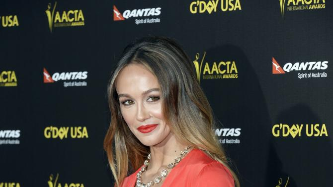 Actress and model Sharni Vinson poses at the 2015 G'Day USA Los Angeles Gala honoring actor Chris Hemsworth with an Excellence in Film Award, at the Hollywood Palladium in Los Angeles