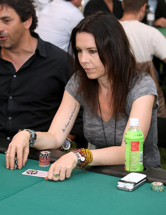 Annie Duke plays poker at Playing For Good Benefitting the Geffen Playhouse and Determined to Succeed on Saturday May 12, 2012 in Santa Monica, Calif. (Casey Rodgers/AP Images for Geffen Playhouse )