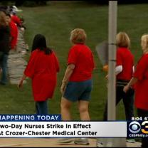 Nurses Strike At Crozer-Chester Medical Center